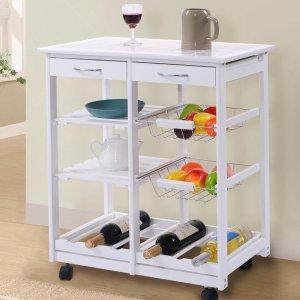 kitchen cart with drawers remodel sacramento costway 厨房小推车带抽屉3057693 89 99 北美省钱快报 带抽屉的厨房推车
