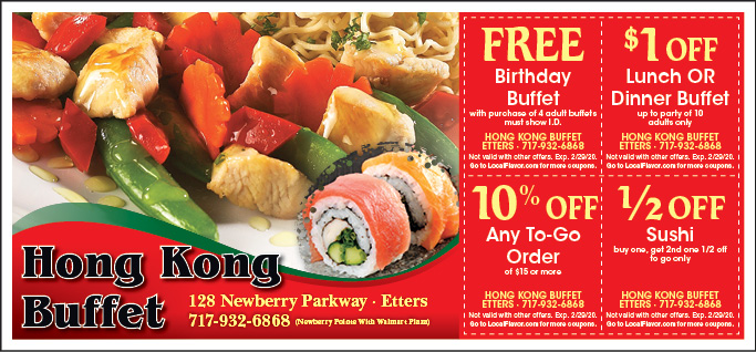 LocalFlavor.com - Hong Kong Buffet - $15 For $30 Worth Of Asian Cuisine Coupons