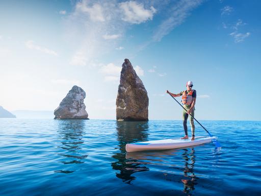 安全第一夏水趣 立槳衝浪玩不溺 | 中央社訊息平臺