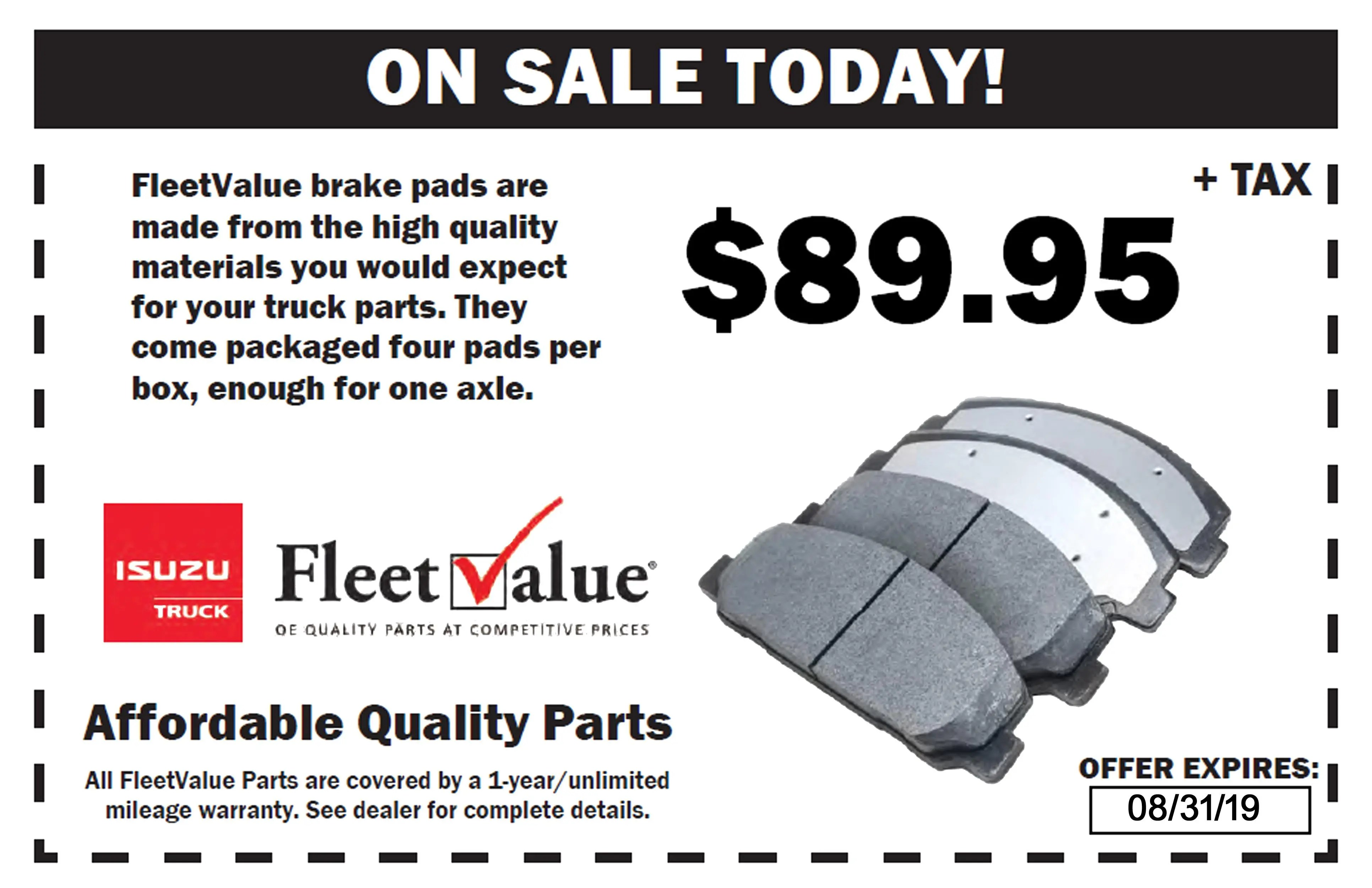 parts specials and coupons