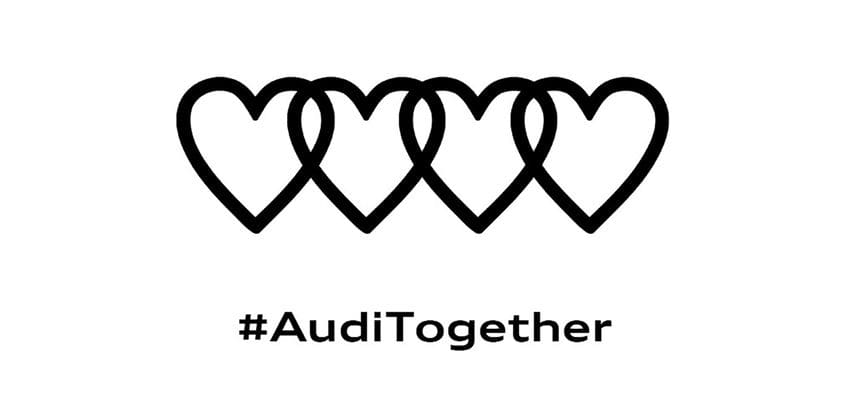 Audi shows its support to medical institutions via a new logo