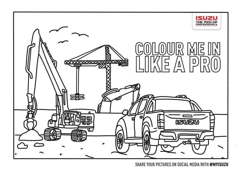Entertain Your Kids with Isuzu D-Max Coloring Sheets