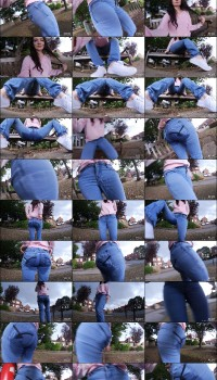 Faye Taylor – Blue jeans by the road wetting (manyvids)
