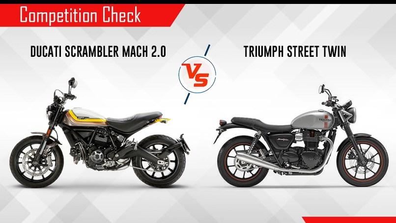 Ducati Scrambler Mach 2 0 Vs Triumph