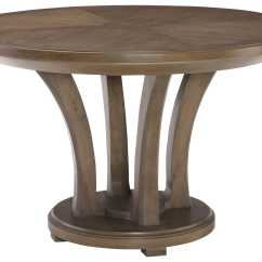 Adirondack Style Dining Chairs White Eiffel Chair Black Legs American Drew Park Studio Weathered Taupe With Gray Wash 48'' Wide Round Table | Ad488701r