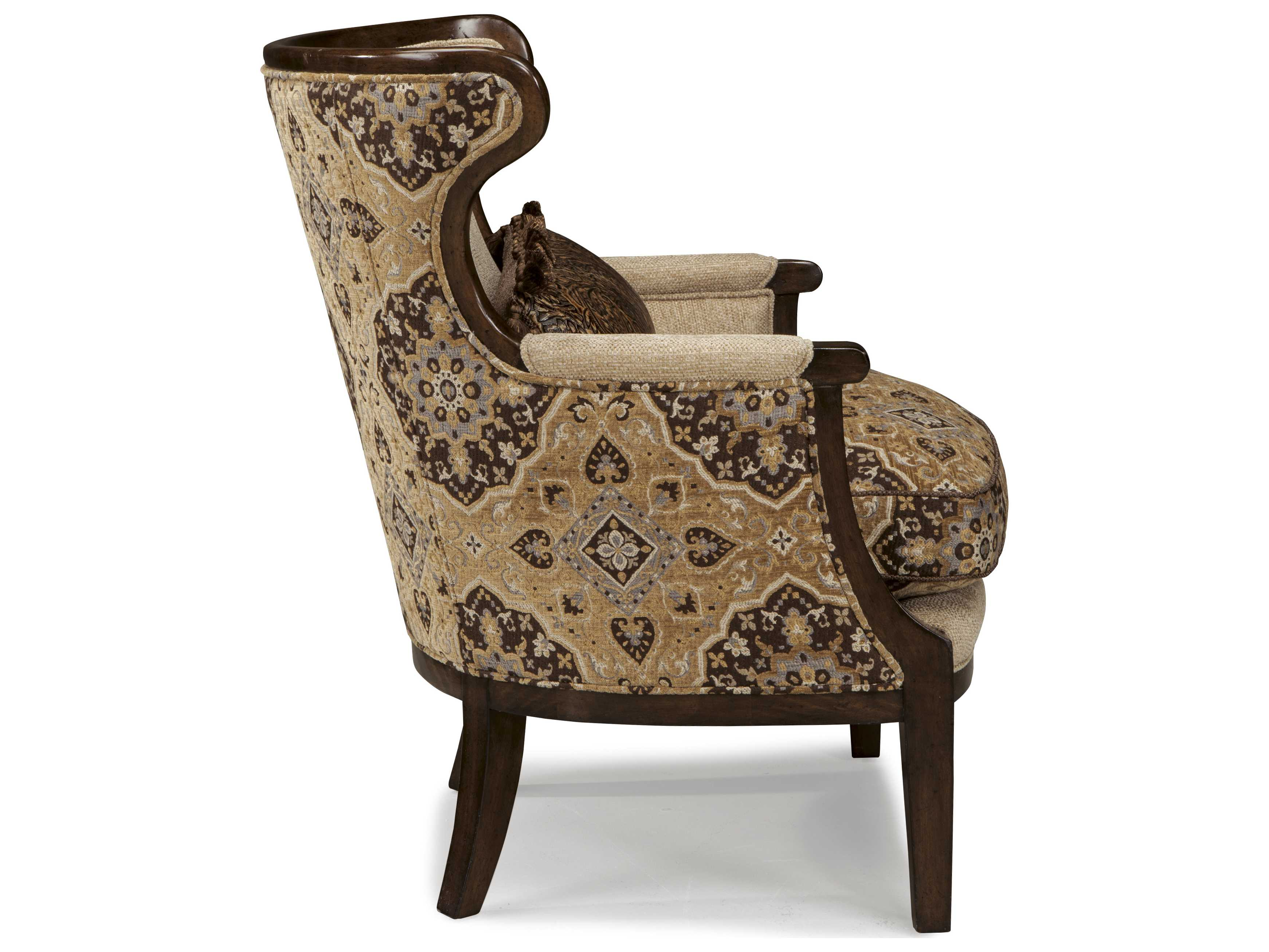 rustic accent chairs x rocker pedestal video gaming chair a r t furniture ava walnut and melange beige