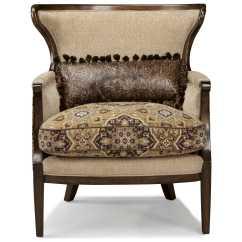 Rustic Accent Chairs Fishing Chair Korum Art Furniture Ava Walnut And Melange Beige