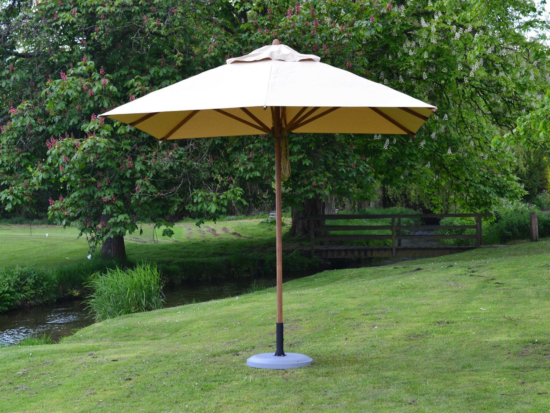 Bambrella Levante Wood 8539 Square Pulley Lift Umbrella