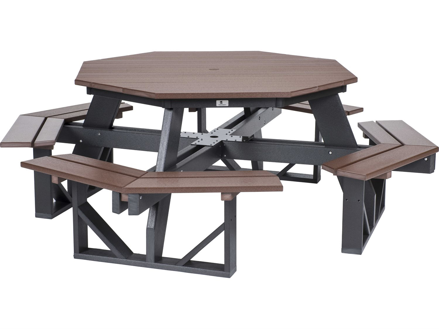 berlin gardens recycled plastic 86 w x 86 d octagon picnic table
