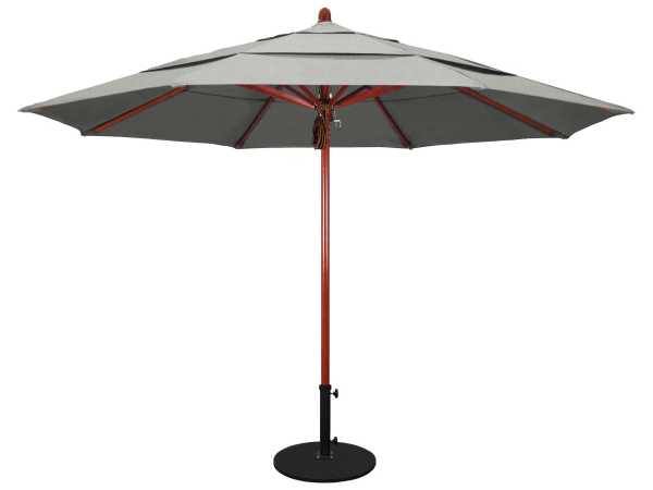California Umbrella Sierra Series 11 Foot Octagon Market Wood With Pulley Lift System