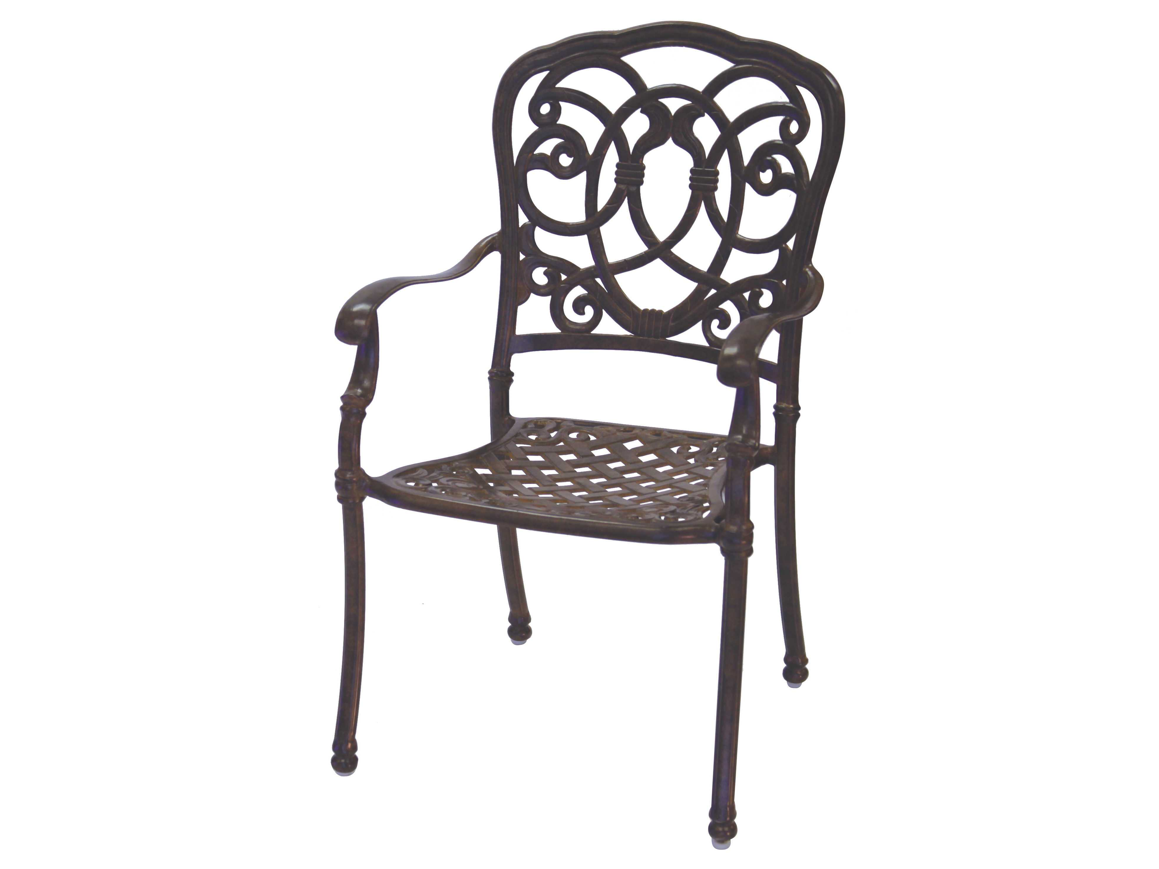 Darlee Outdoor Living Cast Aluminum Cushion Dining Set