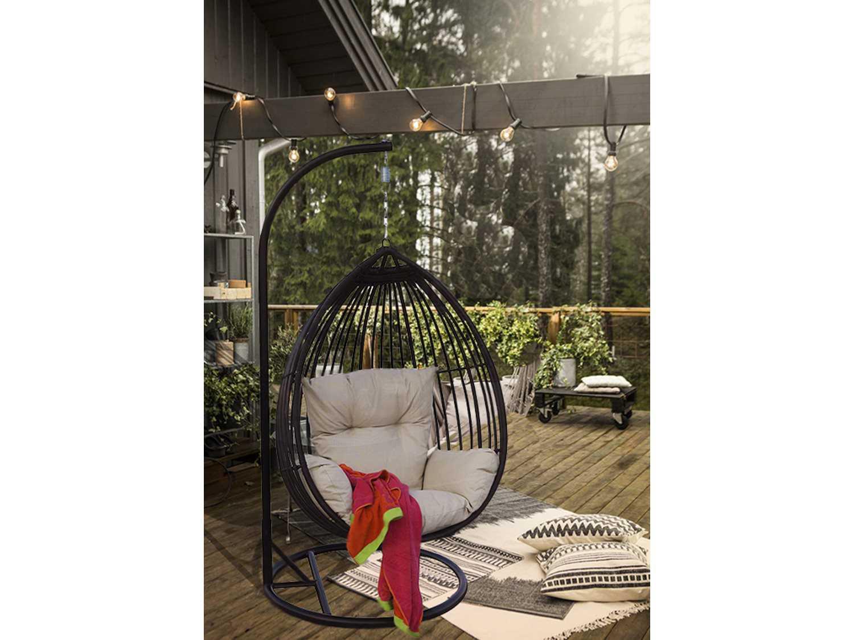 teardrop swing chair college bean bag chairs darlee outdoor living standard tear drop shaped