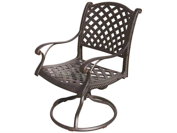 outdoor swivel rocker chair hunting darlee living standard nassau cast aluminum antique bronze dadl135