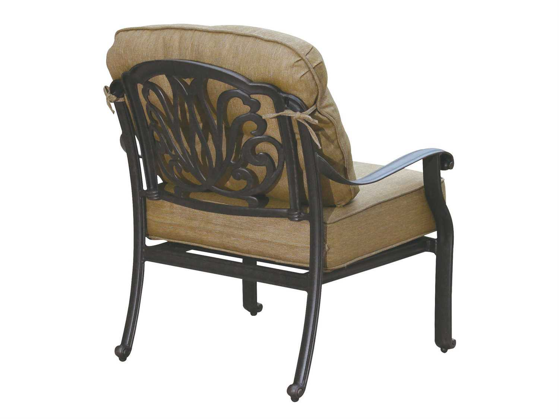 darlee outdoor living elisabeth cast aluminum antique bronze club chair