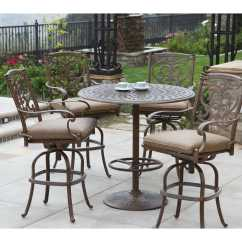 Bar Height Outdoor Chairs Lowes Ikea Childrens Chair Darlee Living Series 60 Cast Aluminum 30 Round