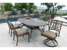 Darlee Outdoor Living Series 60 Cast Aluminum 84 X 42 Oval