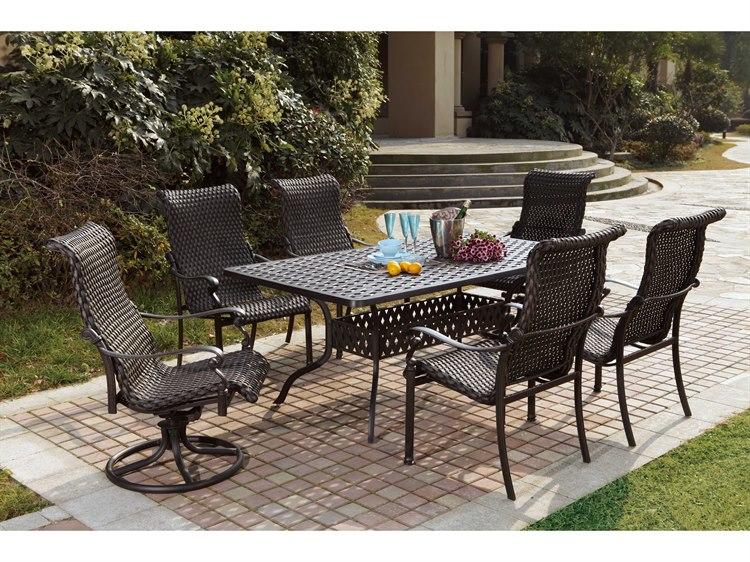 Darlee Outdoor Living Standard Victoria Wicker Dining Set