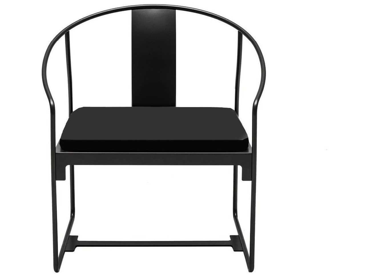 steel chair with cushion makeup desk driade mingx black dining arm 8420353