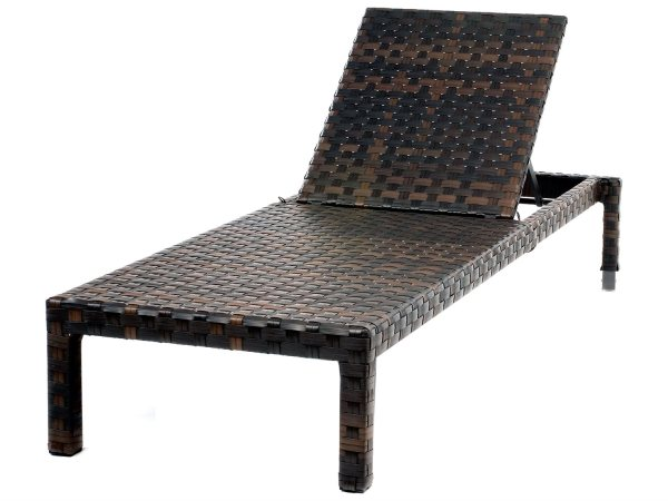 Ebel Tremont Wicker Armless Chaise Lounge With Wheels 492