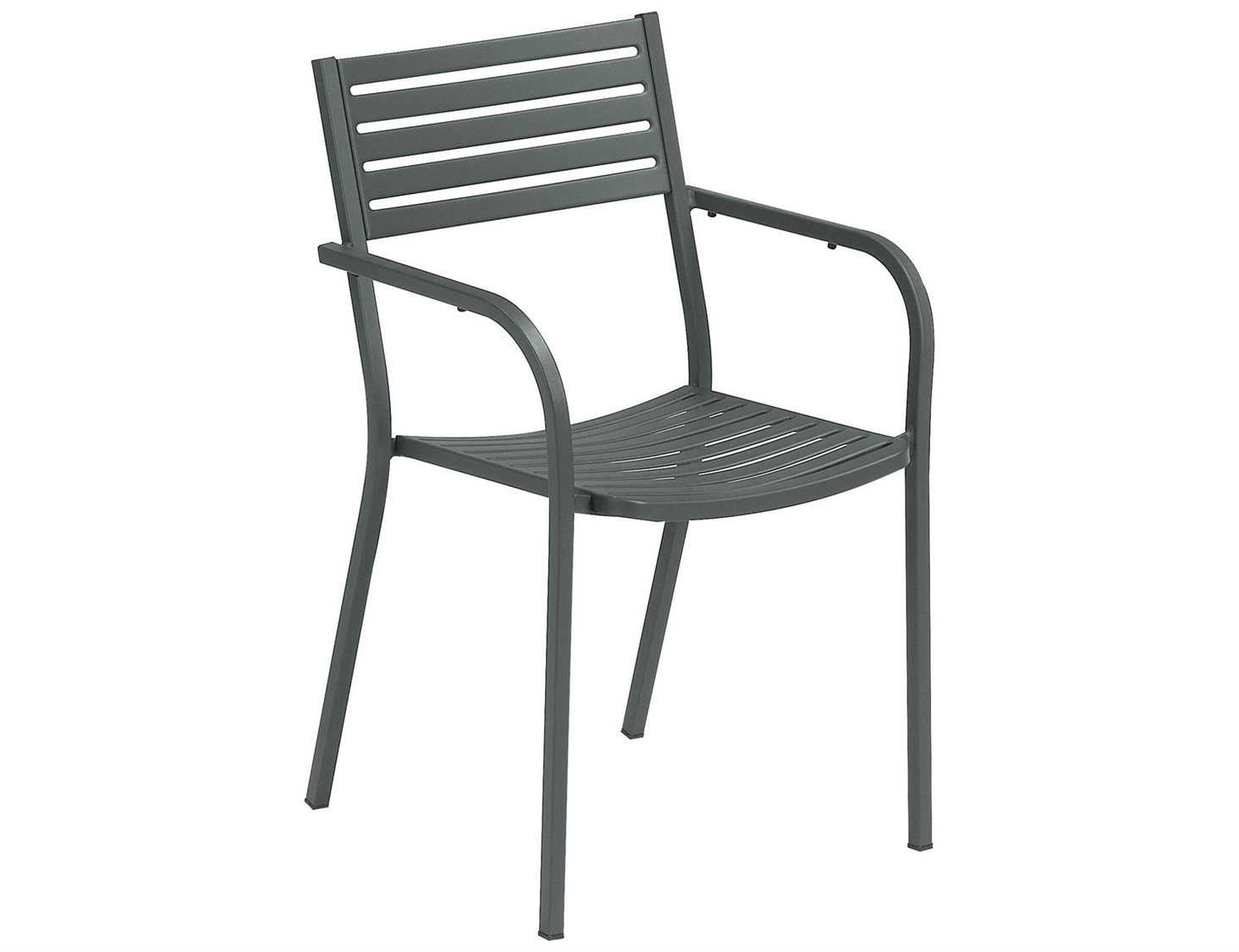 Emu Chairs Emu Segno Steel Stacking Arm Chair Sold In 4 268