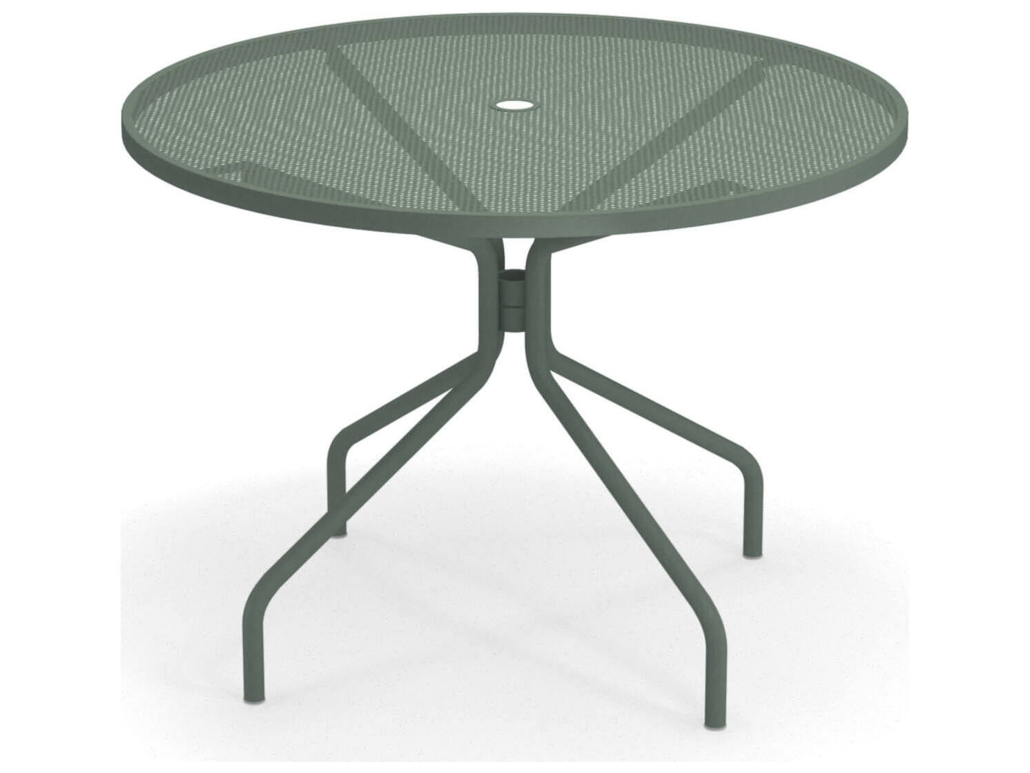 emu cambi steel 42 round dining table