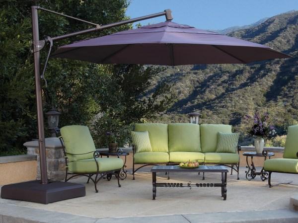 Treasure Garden Cantilever Akz13 Aluminum 13 Foot Wide Octagon Crank Lift Tilt & Lock Umbrella