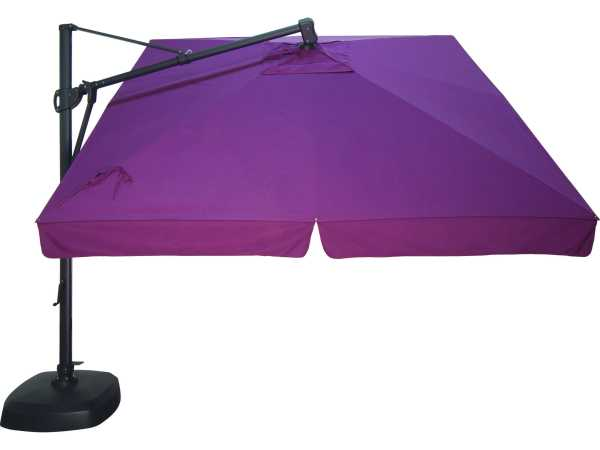 Treasure Garden Cantilever Aluminum 10 Foot Wide Crank Lift Tilt & Lock Umbrella Akzsq