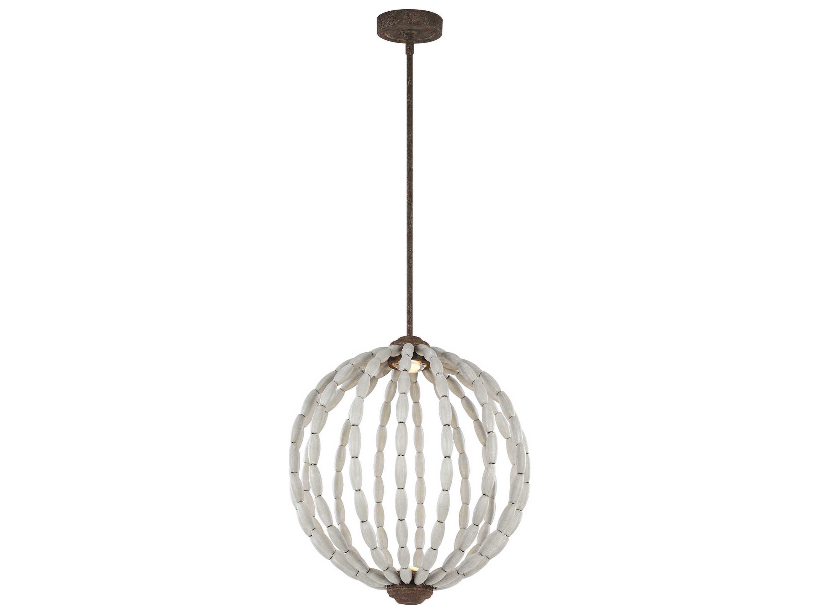 Feiss Orren Driftwood Grey Weathered Iron Two Light 20