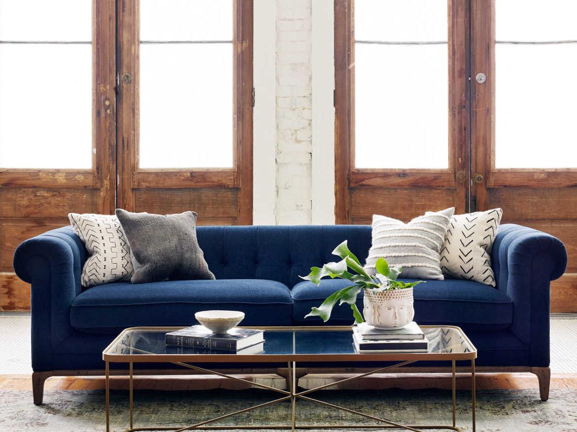 navy microfiber sofa stylus sofas toronto four hands kensington griffon plush fsckenf8a3404