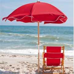 Lounge Chair Umbrella Stand White Chaise Frankford Umbrellas Wooden Beach Set