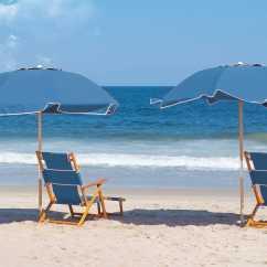 Sail Cloth Beach Chairs Chair Cover Rentals Hartford Ct Frankford Umbrellas Oak Wood Lounge With Foot