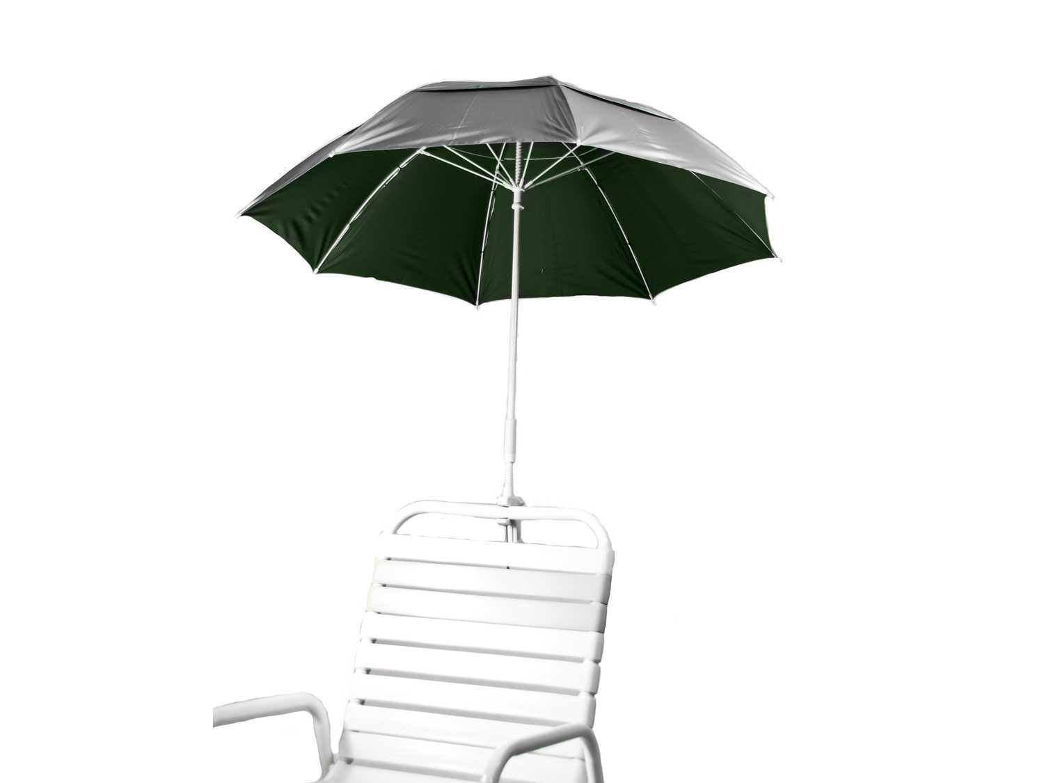 Clamp On Chair Umbrella Frankford Beach Lifeguard Fiberglass 3 6 Foot Wide Octagon Manual Clamp Attachment Umbrella