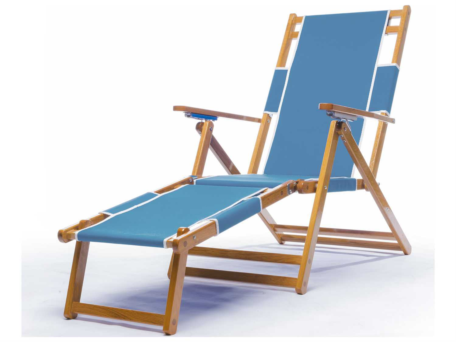 Beach Lounge Chairs Frankford Umbrellas Oak Wood Beach Lounge Chair With Foot Rest