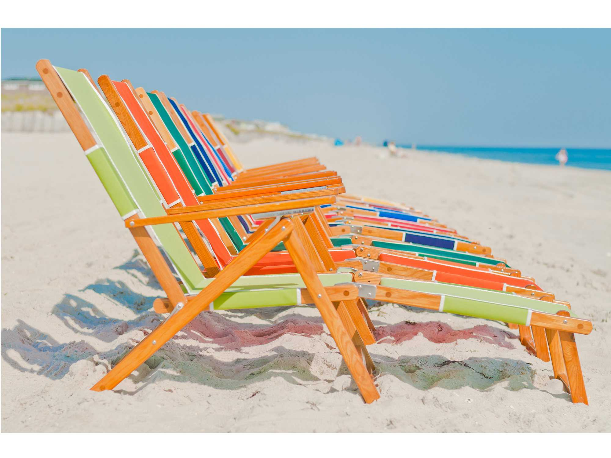 Beach Lounger Chair Frankford Umbrellas Oak Wood Beach Chairs Lounge Sets