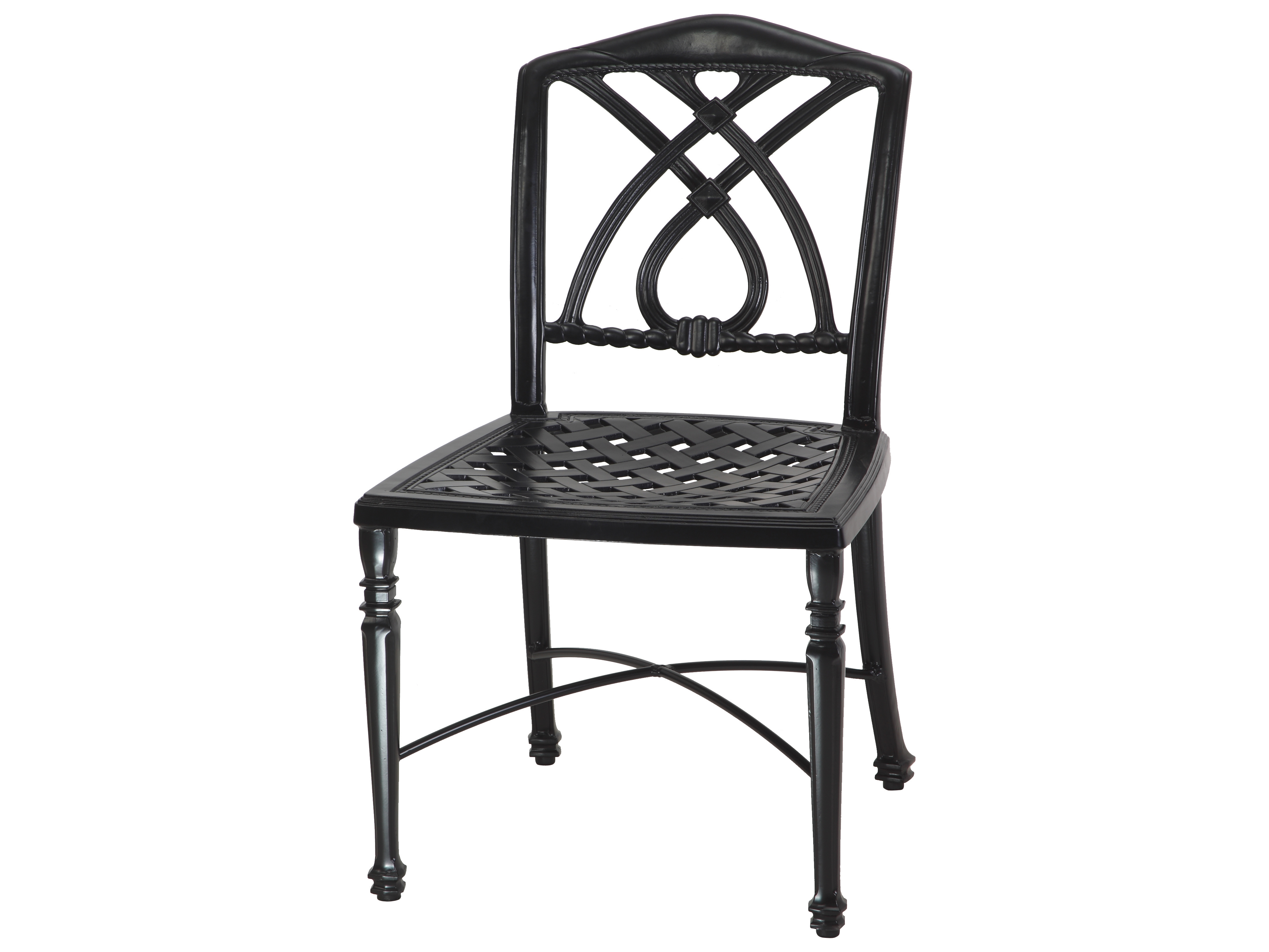 Gensun Terrace Cast Aluminum Cushion Cafe Chair Without