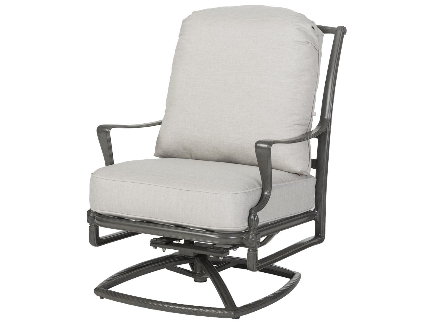 air sofa rocking chair with speaker pizza hut gensun bel cast aluminum cushion high back swivel