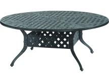 Gensun Verona Cast Aluminum 48 Chat Table With