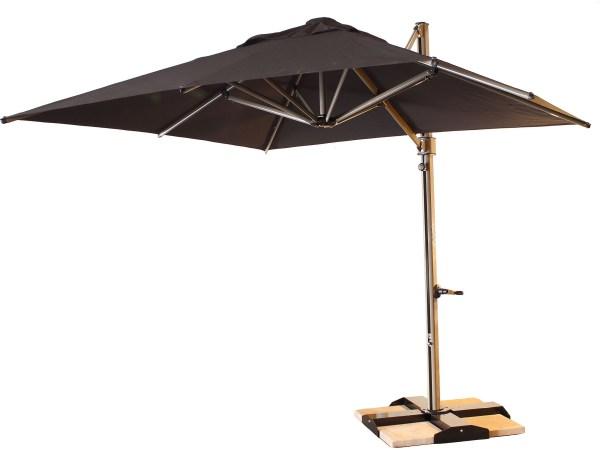Grosfillex Windmaster Aluminum 10 Foot Square Cantilever Umbrella 98700231