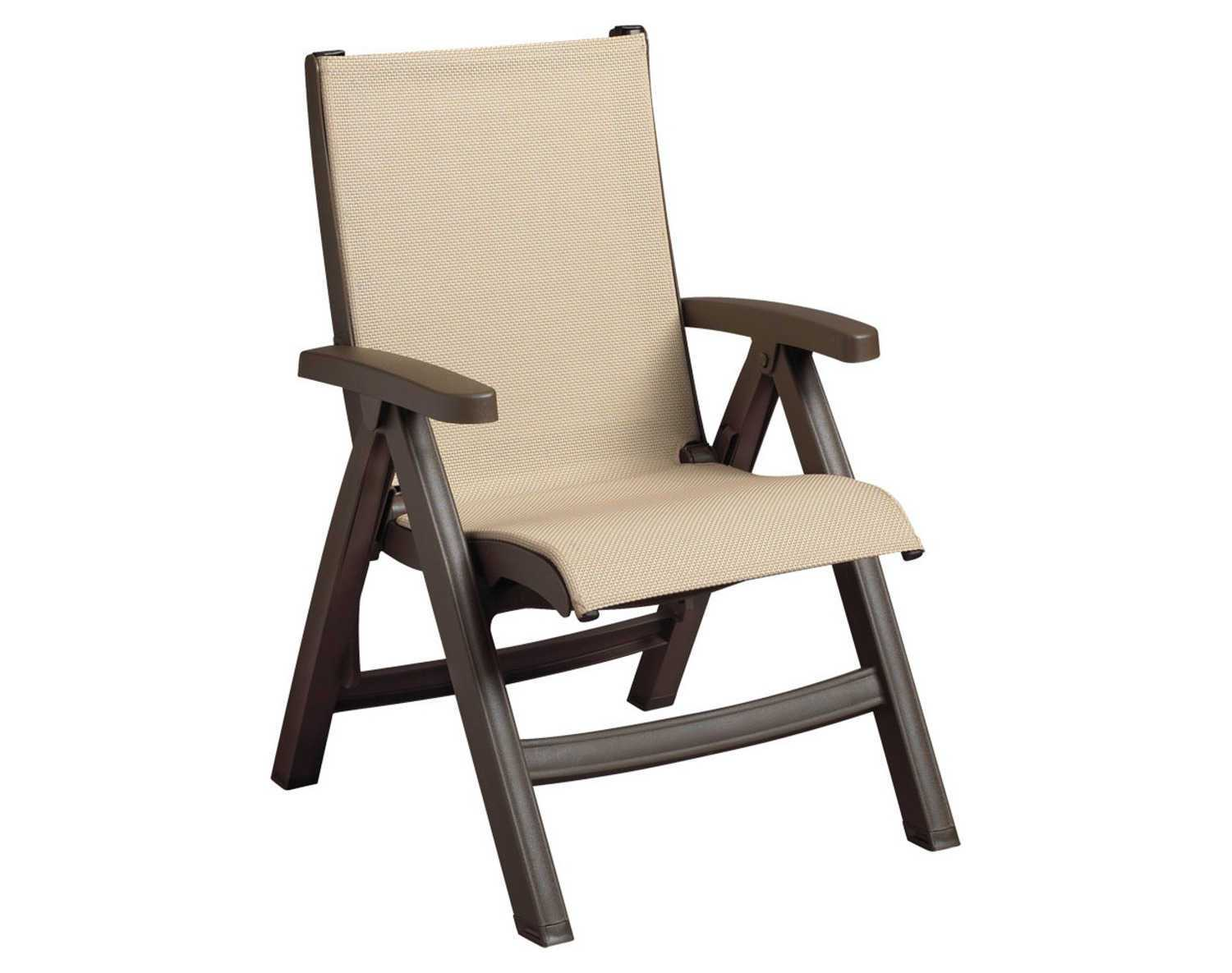 Resin Folding Chairs Grosfillex Belize Midback Resin Folding Sling Bronze Mist
