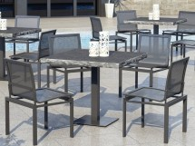 Homecrest Allure Mesh Aluminum Dining Chair 1235m