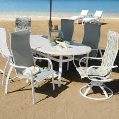 Sling Motion Patio Chairs Chair Cover For Rent Philippines Homecrest Holly Hill Aluminum High Back Arm Swivel