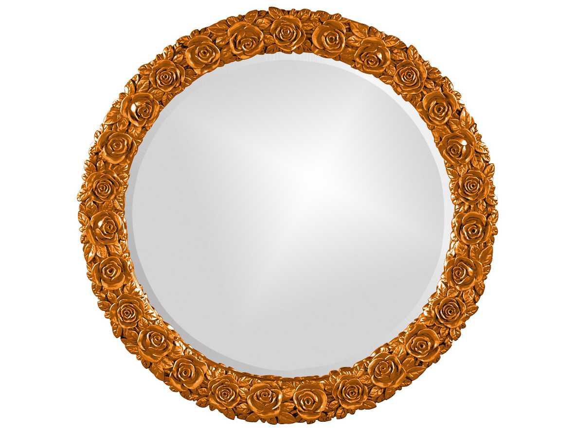 Howard Elliott Rosalie 24 Round Orange Wall Mirror