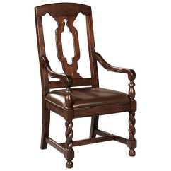 Tall Back Dining Chairs Beach Sale Hekman Havana Leather Seat Arm Chair