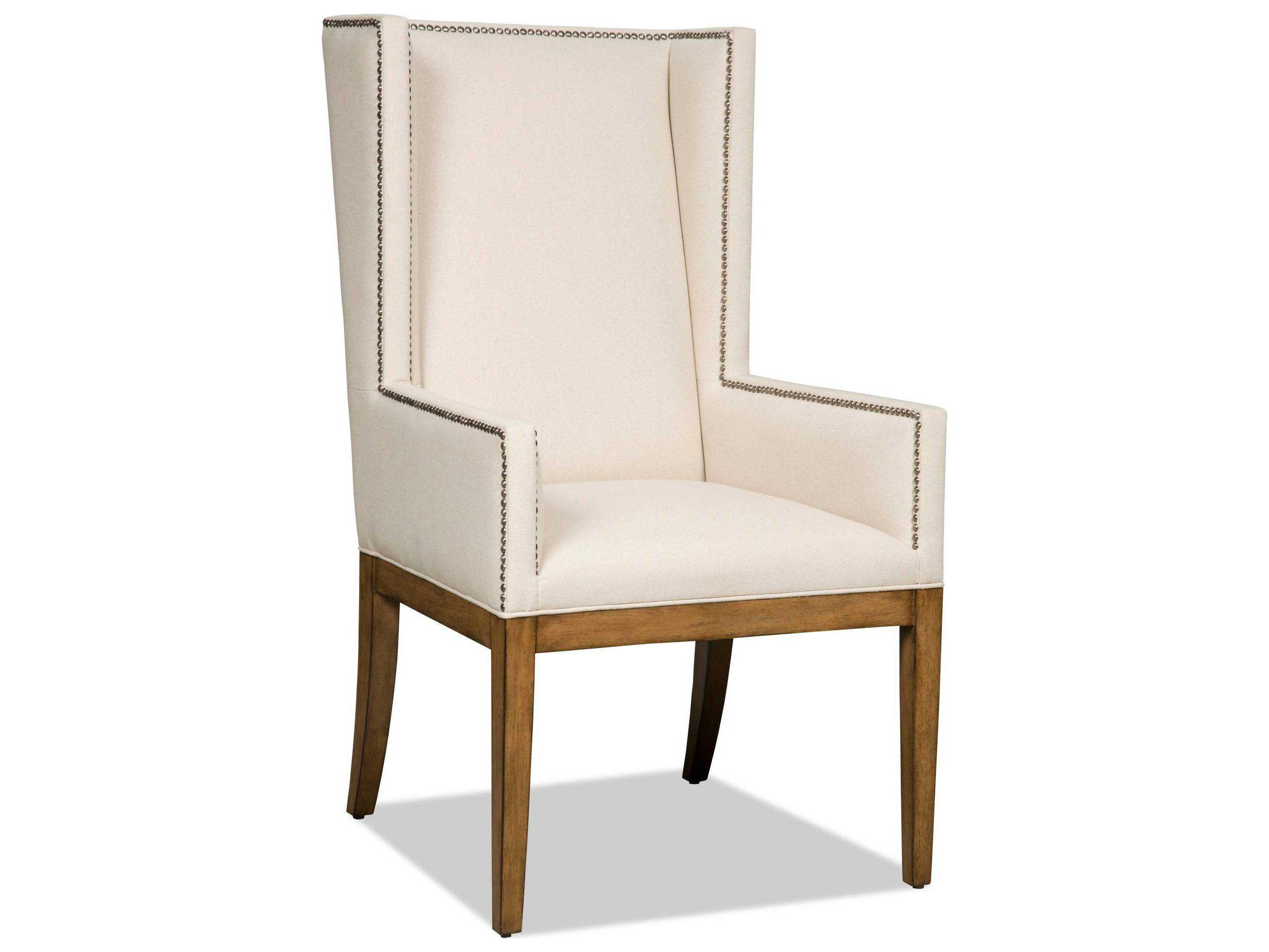 wooden dining room chairs with arms mid century rocking chair canada hooker furniture bayeaux natural medium wood arm