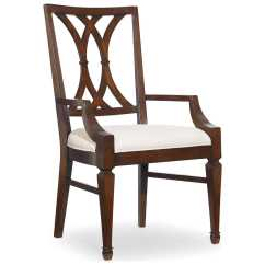 Dark Wood Dining Room Chairs High Chair Toy Hooker Furniture Palisade Splat Back Arm