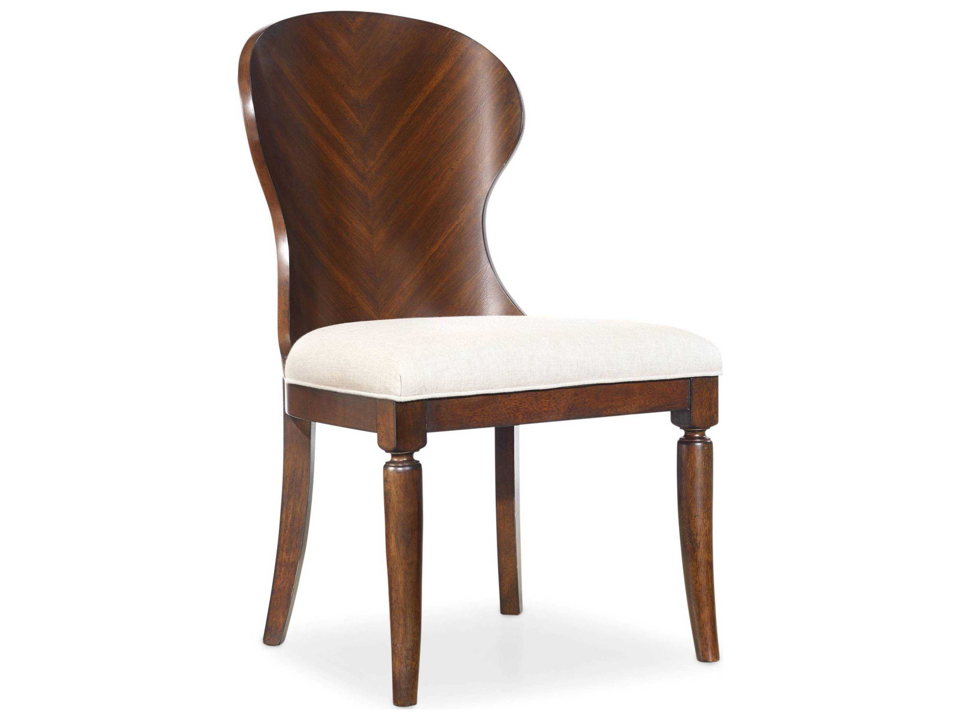 dark wood dining room chairs arm chair covers ebay hooker furniture palisade back side