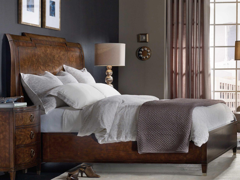 Hooker Furniture Skyline Dark Cathedral Cherry California King Size Sleigh Bed HOO533690560