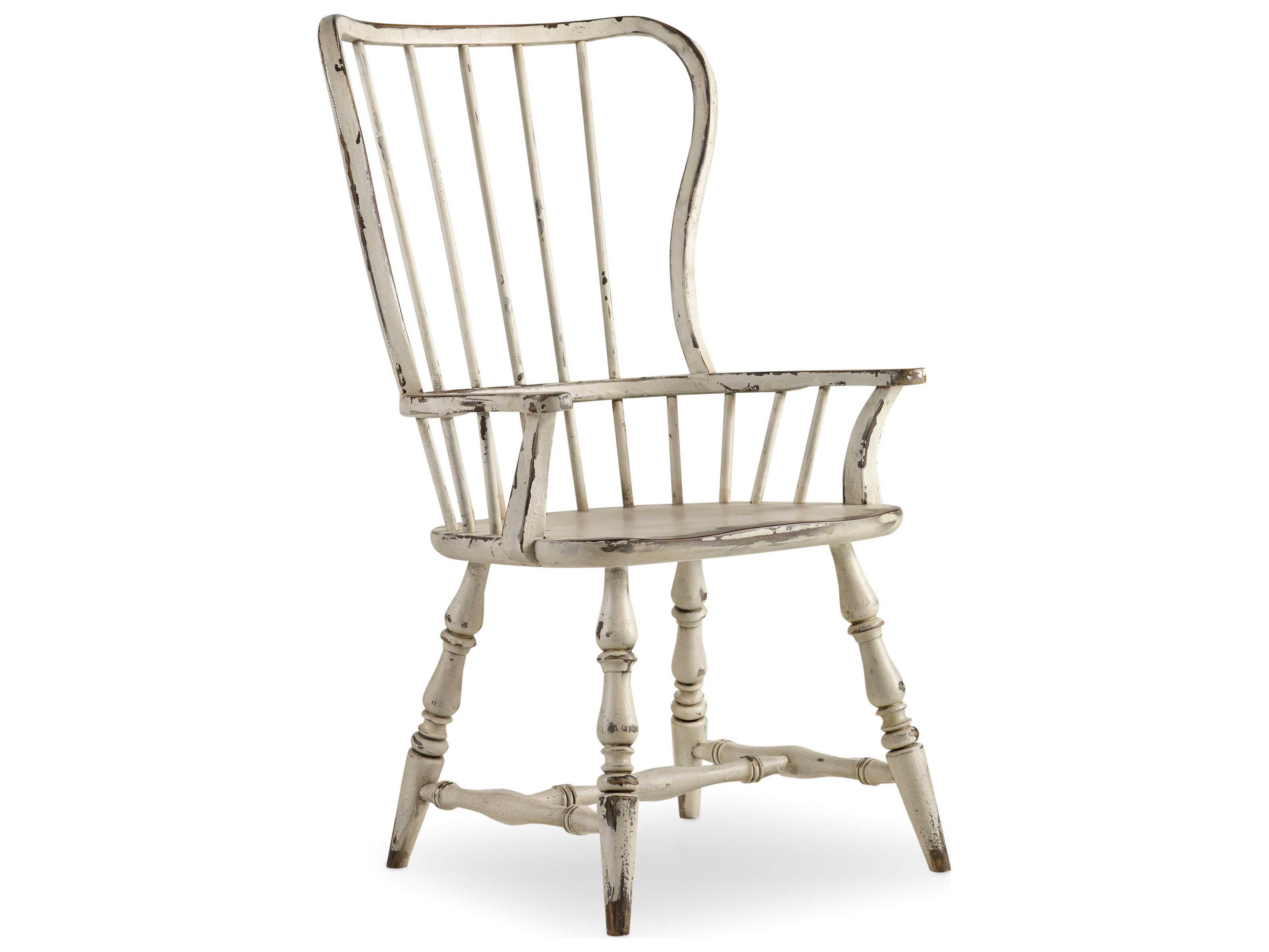 Spindle Dining Chairs Hooker Furniture Sanctuary Vintage Chalky White Spindle