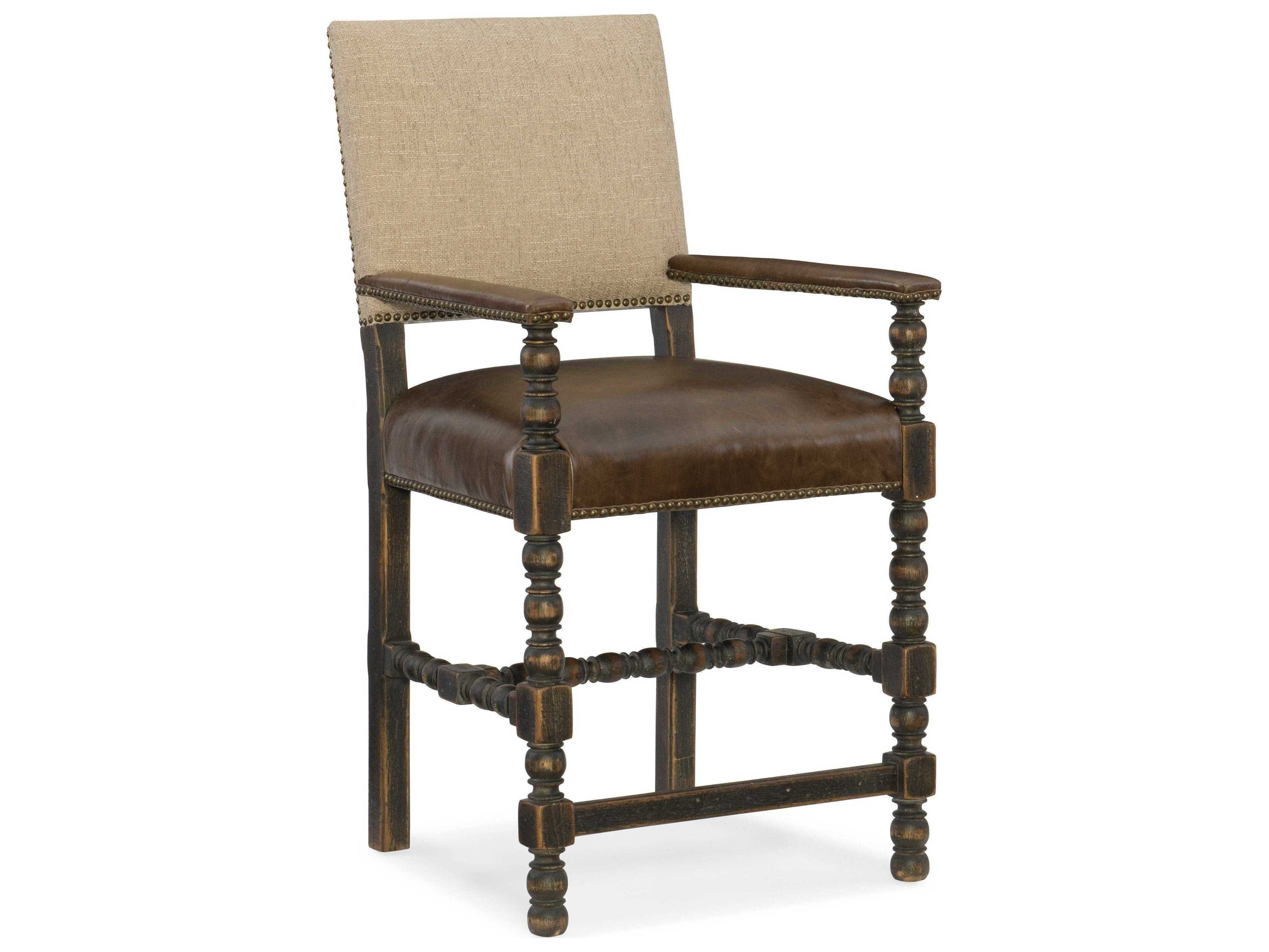 Counter Height Chairs With Arms Hooker Furniture Hill Country Black Arm Counter Height Stool