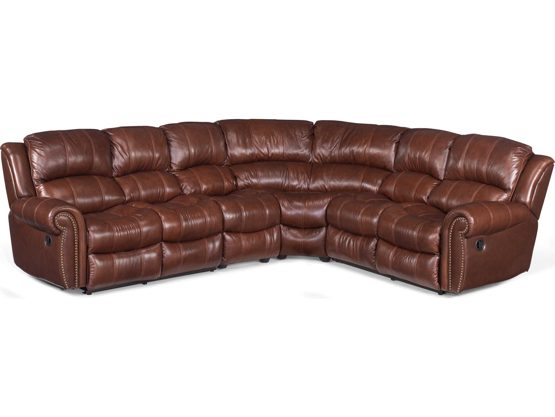 4 piece recliner sectional sofa corinthian sofas hooker furniture cognac hooss601sc087
